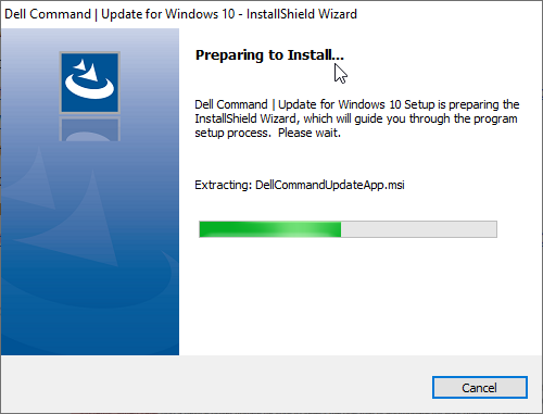 Dell Command Update Install Window 2