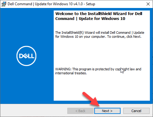 Dell Command Update Install Window 3