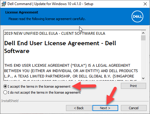 Dell Command Update Install Window 4