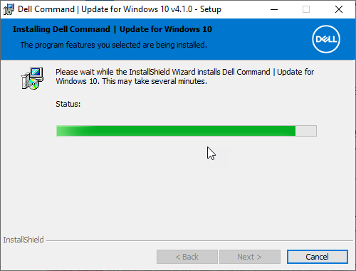 Dell Command Update Install Window 7