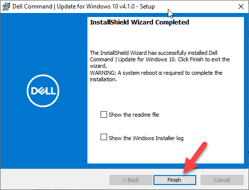 Dell Command Update Install Window 8