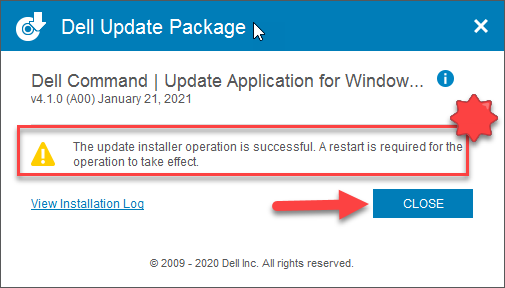 Dell Command Update Install Window 9