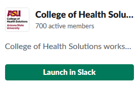 CHS Launch in Slack button